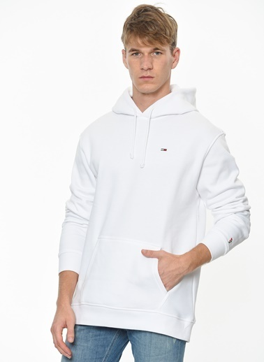 Tommy Hilfiger Kapüşonlu Sweatshirt Beyaz